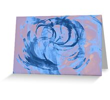 Abstract colorful watercolor illustration with paint strokes and swirls. Greeting Card