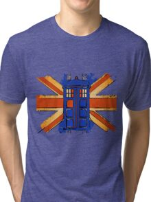 Dr Who - The Tardis - Vintage Jack Tri-blend T-Shirt