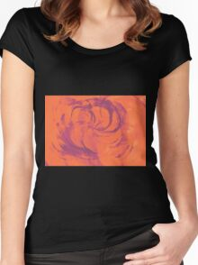 Abstract colorful watercolor illustration with paint strokes and swirls. Women's Fitted Scoop T-Shirt