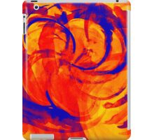 Abstract colorful watercolor illustration with paint strokes and swirls. iPad Case/Skin