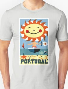 Vintage 1959 Portugal Seaside Travel Poster Unisex T-Shirt
