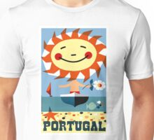 Vintage 1959 Portugal Seaside Travel Poster Unisex T-Shirt