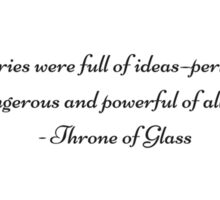 Throne of Glass  Sticker