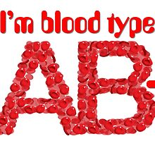 I'm blood type AB negative by theimagezone