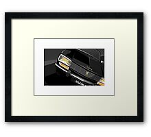 Poster artwork - Peugeot 504 saloon. Framed Print