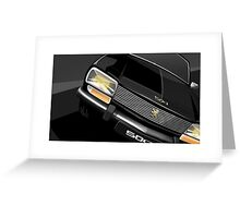 Poster artwork - Peugeot 504 saloon. Greeting Card