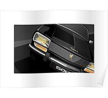 Poster artwork - Peugeot 504 saloon. Poster