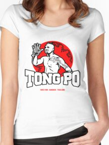 NEW TONG PO MUAY THAI FIGHTER VILLAIN KICKBOXER VAN DAMME MOVIE Women's Fitted Scoop T-Shirt