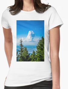 Lonely Cloud In The Sky Womens Fitted T-Shirt
