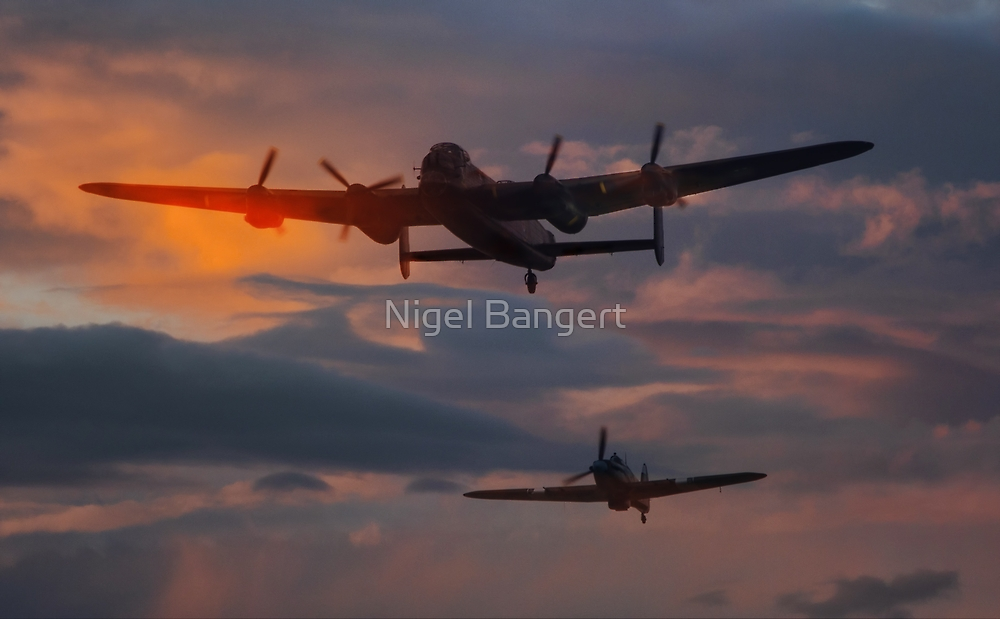 BBMF Lancaster and Hurricane by Nigel Bangert