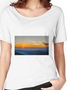 Beautiful Sunset Over Rila Mountain Women's Relaxed Fit T-Shirt
