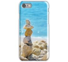Stack of sea rocks iPhone Case/Skin
