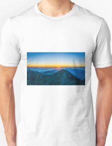Beautiful Sunrise Over Rila Mountain Unisex T-Shirt