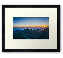 Sunrise Over Rila Mountain Framed Print
