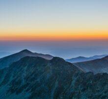 Sunrise Over Rila Mountain Sticker
