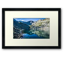 Panoramic View Of Musalenski Lakes And Musala Peak Framed Print