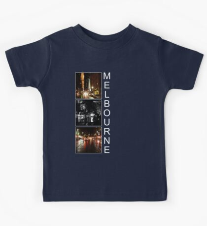 Melbourne shines at night Kids Tee