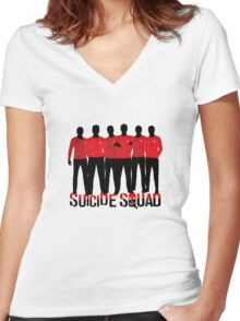 Star Trek - Suicide Squad Parody Women's Fitted V-Neck T-Shirt