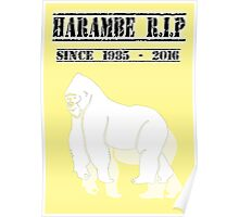 Harambe Since 1985 - 2016 Poster