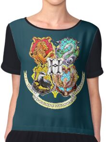 Harry Potter Stained Glass Houses Chiffon Top