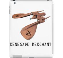 Renegade Merchant - with retro font iPad Case/Skin