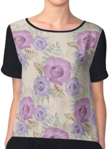 Seamless bright floral pattern background Chiffon Top