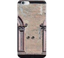 Building facade with two windows with arcades from Bologna. iPhone Case/Skin