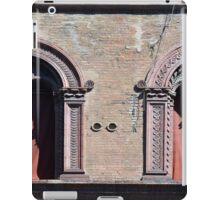 Building facade with two windows with arcades from Bologna. iPad Case/Skin