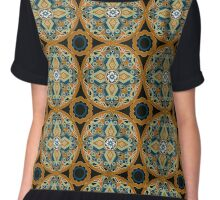 Seamless beautiful antique pattern ornament. Geometric background design, repeating texture. Chiffon Top
