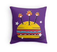 Hamburger USA Celebration Throw Pillow