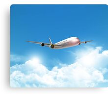 Jet Flying On The Sky  Canvas Print