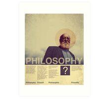 PHILOSOPHY . FILOSOFI . PHILOSOPHIE . FILOSOFIA . Art Print