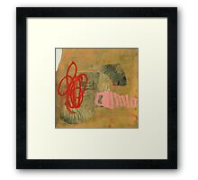 crab and worm fighting over a shell Framed Print