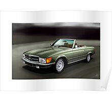 Poster artwork - Mercedes Benz 380SL Poster