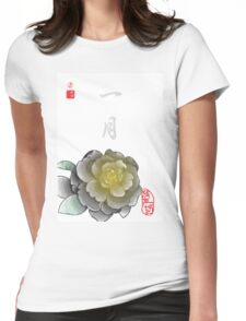 Inked Petals of a Year January Womens Fitted T-Shirt