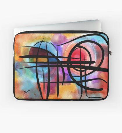 Abstract colorful landscape in the sun Laptop Sleeve