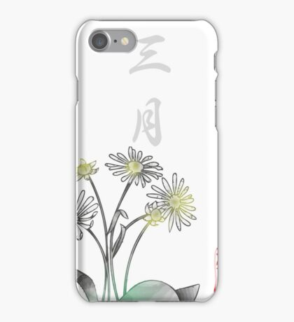 Inked Petals of a Year March iPhone Case/Skin