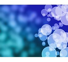 Abstract blue background with bokeh Photographic Print