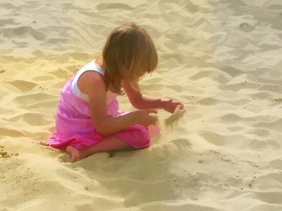 Sand Running Through Her Fingers by lynn carter
