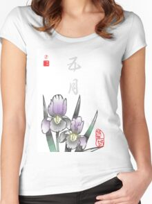 Inked Petals of a Year May Women's Fitted Scoop T-Shirt