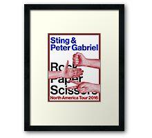 PETER GBRIEL ROCK PAPER SCISSOR Framed Print