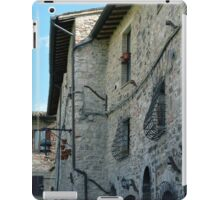 Stone facade buildings on the street in Assisi iPad Case/Skin
