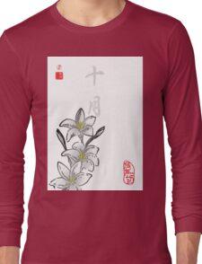 Inked Petals of a Year October Long Sleeve T-Shirt