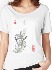 Inked Petals of a Year October Women's Relaxed Fit T-Shirt