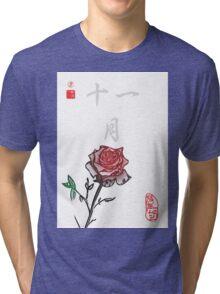 Inked Petals of a Year November Tri-blend T-Shirt