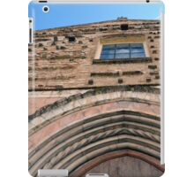 Building facade from Foligno with arches and brick decoration. iPad Case/Skin