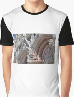 Detail of cathedral from Siena with stone decorations Graphic T-Shirt