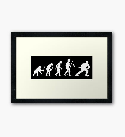 Ice Hockey Evolution Framed Print
