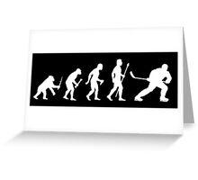 Ice Hockey Evolution Greeting Card