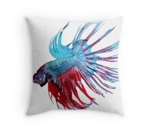 Betta Pillow - Blue and Red Throw Pillow